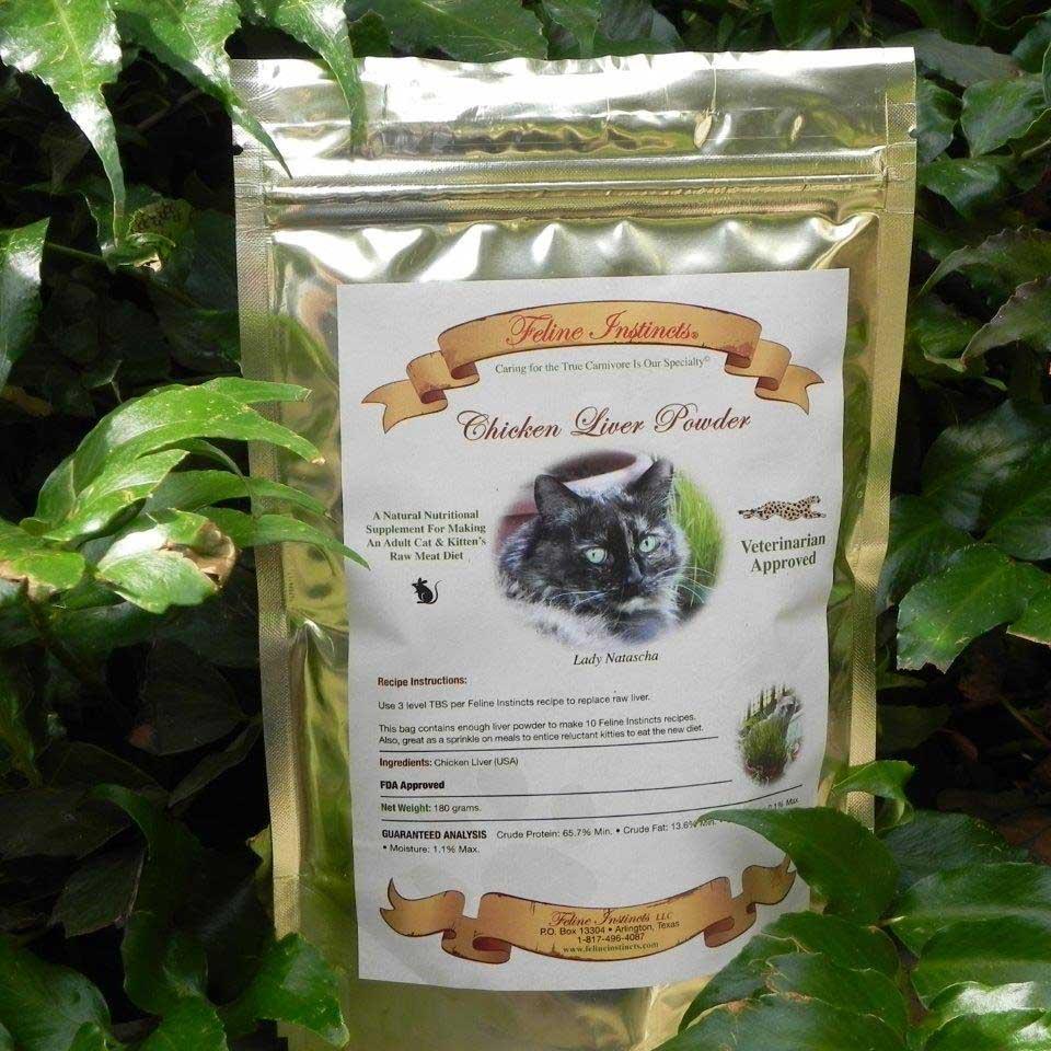 Chicken liver powder feline instincts feline instincts homemade raw meat cat food forumfinder Gallery